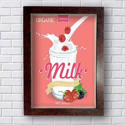 Quadro Decorativo Milk Organic
