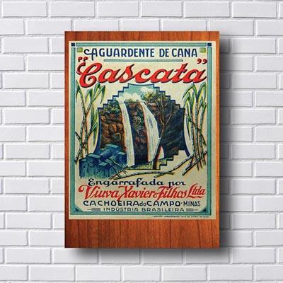 Quadro Vintage Cascata Aguardente de Cana