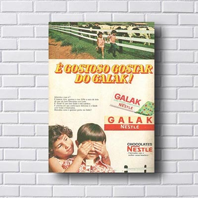 Quadro Vintage Galak Nestle