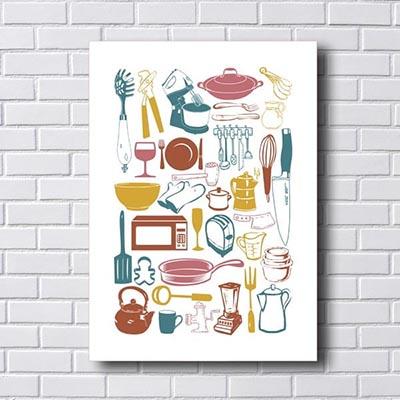 Quadros Decorativos Cozinha Vintage