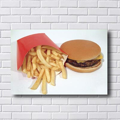Quadros Decorativos Hamburger com Fritas