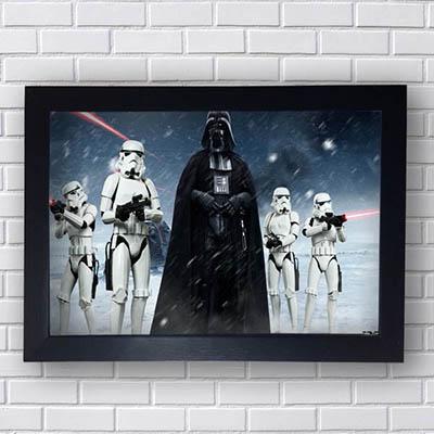 Quadro Darth Vader e Stormtrooper