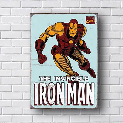 Quadro Iron Man Quadrinhos