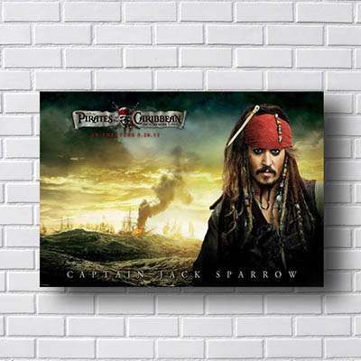 Quadro Jack Sparrow Piratas do Caribe