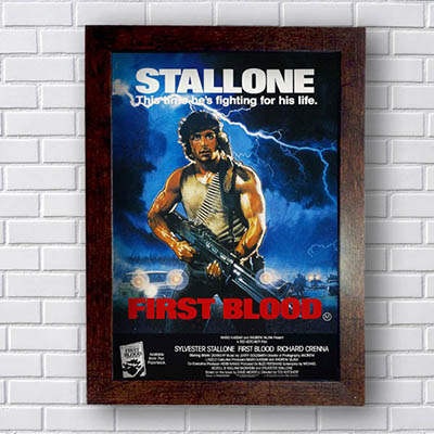 Quadro Stallone First Blood