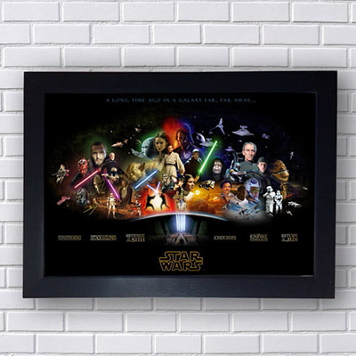Quadro Star Wars Episode I ao IV