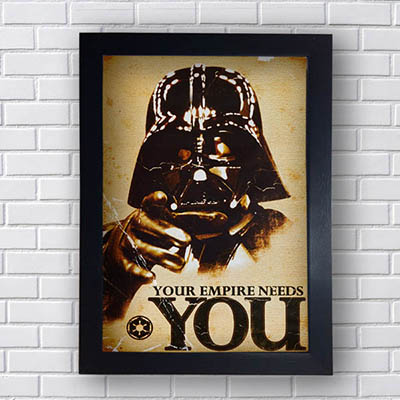 Quadro Star Wars Your Empire Needs You