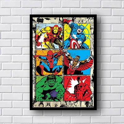 Quadro Vingadores Quadrinhos