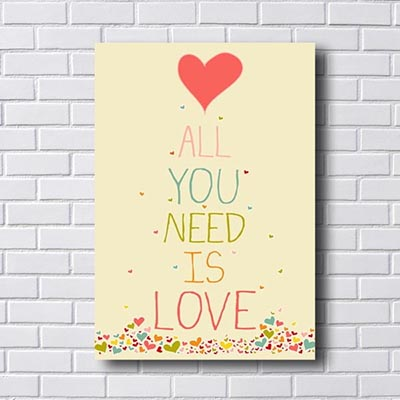 Quadro All Need Is Love