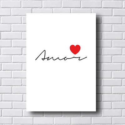 Quadro  Decorativo Amar com Coração