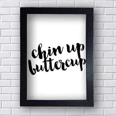 Quadro Decorativo Chin Up Butter Cup