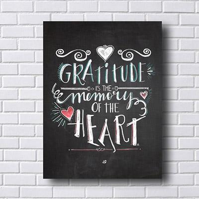 Quadro Decorativo Gratitude