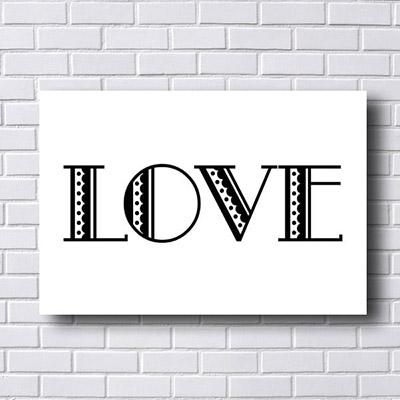 Quadro Decorativo Love Desenhado