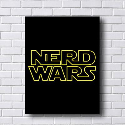 Quadro Decorativo Nerd Wars