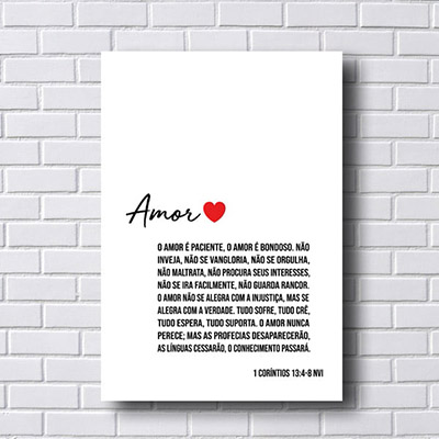 Quadro  Decorativo O Amor é Paciente