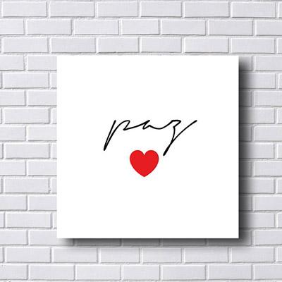 Quadro Decorativo Paz com Coração