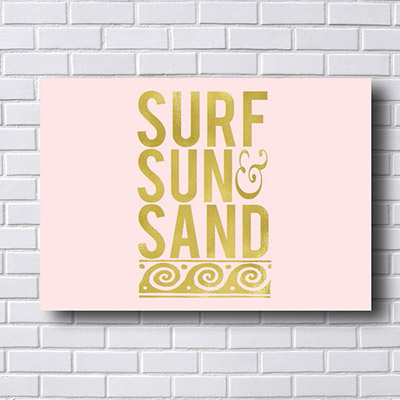 Quadro Decorativo Surf Sun Sand