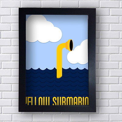 Quadro Decorativo Yellow Submarine