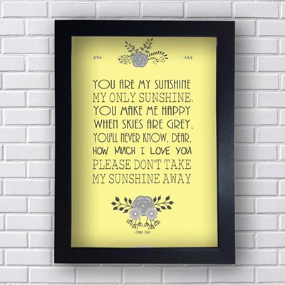 Quadro You Are My Sunshine