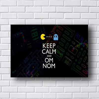 Quadro Pac Man Keep Calm