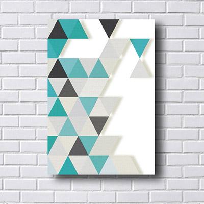 Quadro Decorativo Triângulos a Esquerda
