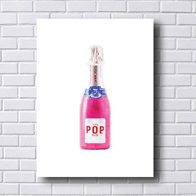 Quadro Decorativo Champagne
