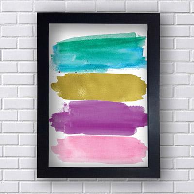 Quadro Decorativo Faixas Coloridas
