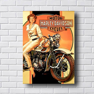 Quadro Decorativo Harley Davidson Cycles