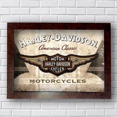 Quadro Decorativo Harley Davidson Motorcycles