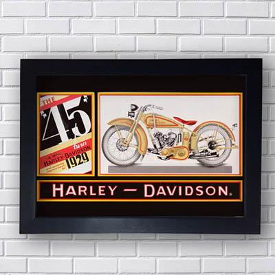 Quadro Decorativo Harley Davidson Retrô