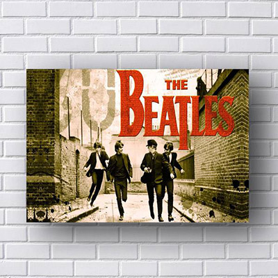 Quadro Beatles Correndo