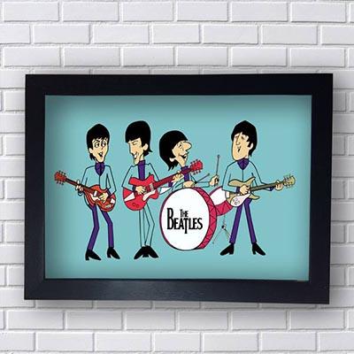 Quadro Decorativo Beatles Desenho