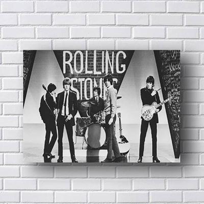 Quadro Rolling Stones Preto e Branco