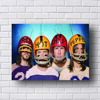 Quadro Red Hot Chili Peppers com Capacetes