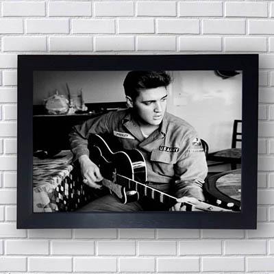 Quadro Decorativo Elvis Violão