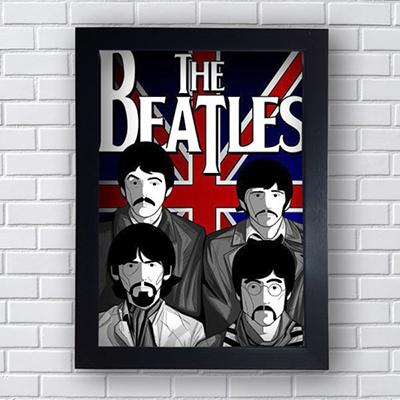 Quadro Placa Decorativo The Beatles