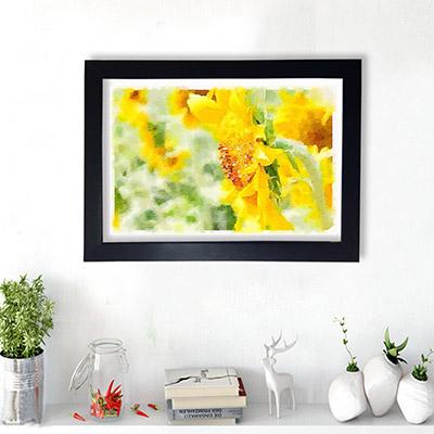Quadro Decorativo Arte Flor Amarela
