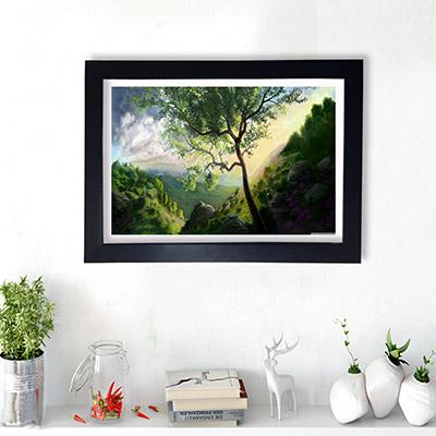 Quadro Decorativo Pintura de Floresta