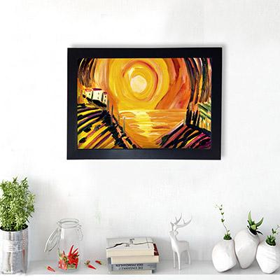Quadro Decorativo Pintura do Por do sol
