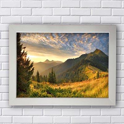 Quadro Decorativo Paisagem Montanhas e Céu