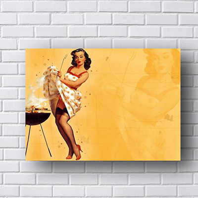 Quadro Pin Up Churrasco