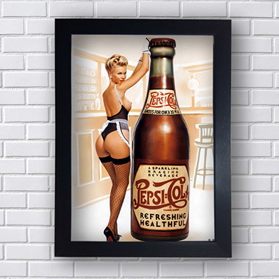 Quadro Pin Up Pepsi