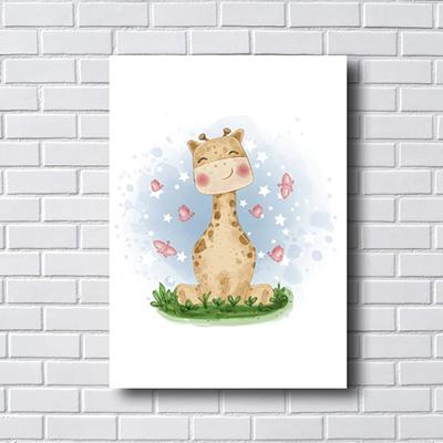 Placa Quadro Decorativo Infantil Girafinha