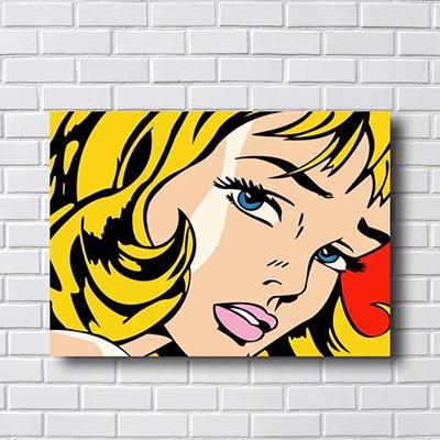 Quadro Pop Art Menina