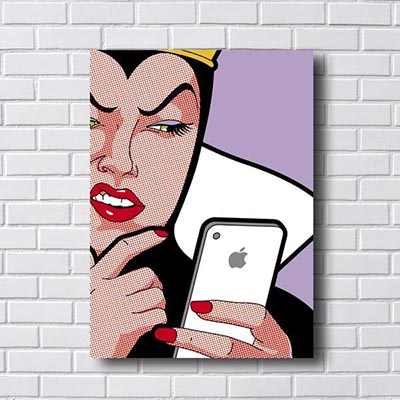 Quadro Pop Art Rainha Iphone