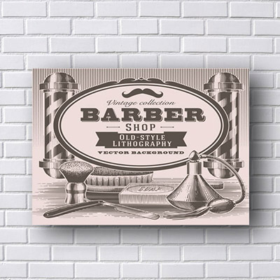 Placas Decorativas para Barbearia Old Style