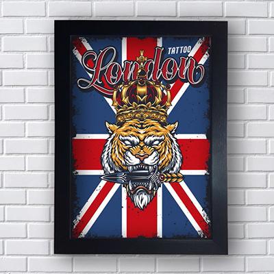 Placa Quadro Decorativo London