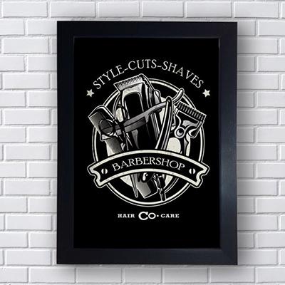 Placa Quadro Decorativo Style Cuts Shaves