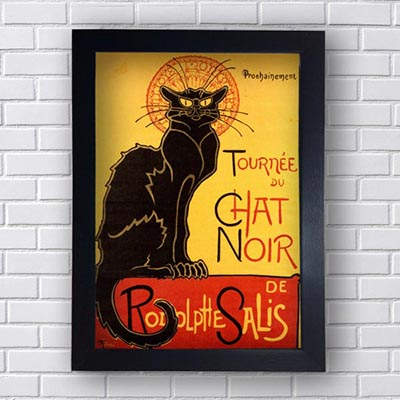 Quadro Decorativo Cat Noir