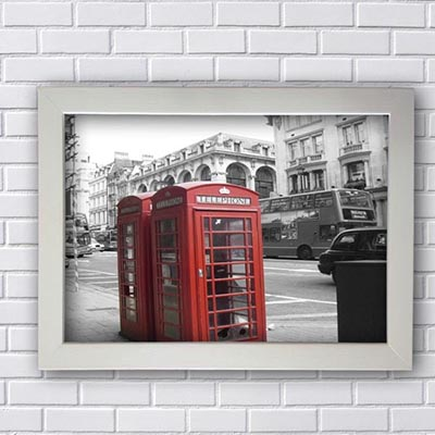 Quadro Decorativo London Telefhone